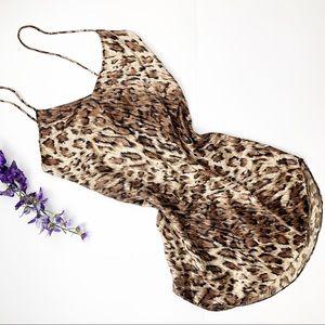 Paula Carbone Cheetah Print Cami 100% Silk